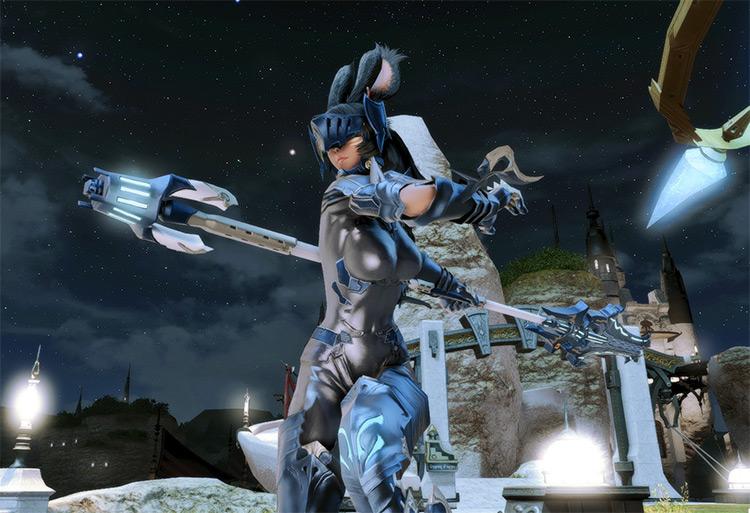 FFXIV Vierra Knight Battle Glamour Pose