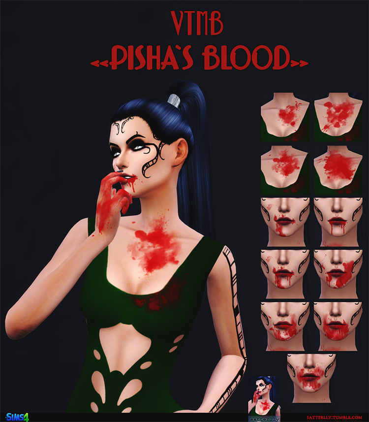 Vampire: The Masquerade – Bloodlines – Pisha's Blood by Satterlly for Sims 4