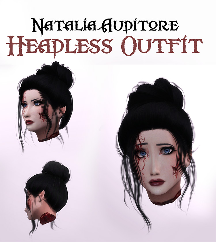 Headless Outfit by Natalia-Auditore for Sims 4