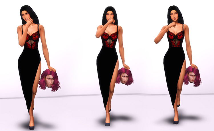 Walking With a Head by Natalia-Auditore for Sims 4