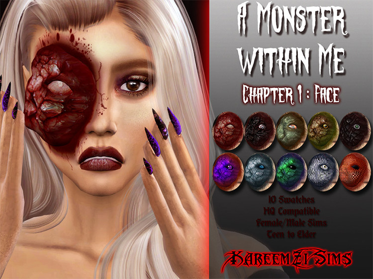 A Monster Within Me (Part 1) by KareemZiSims for Sims 4