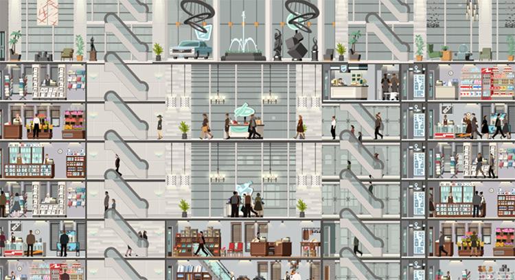 Fancy Escalators Mod for Project Highrise