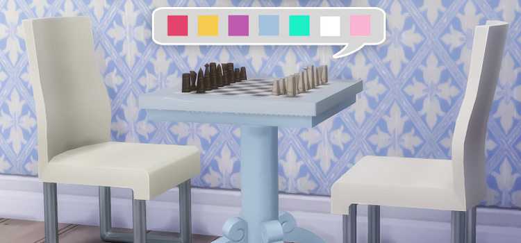 Under The Stars Chess Table Recolor CC - TS4