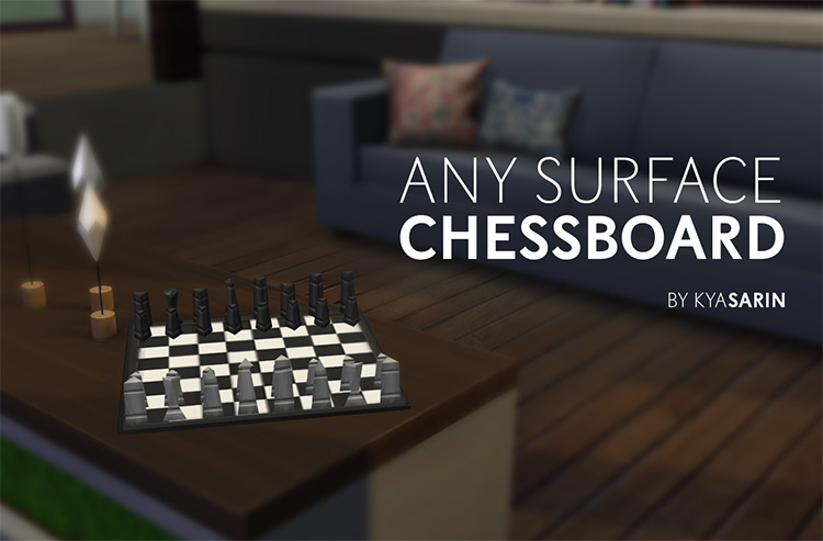Any Surface Chessboard Mod for The Sims 4
