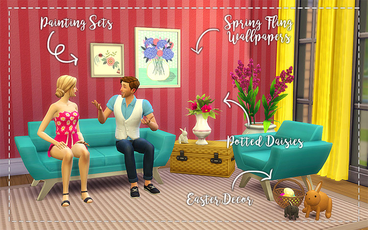 Spring Fling Stuff Pack - TS4 CC