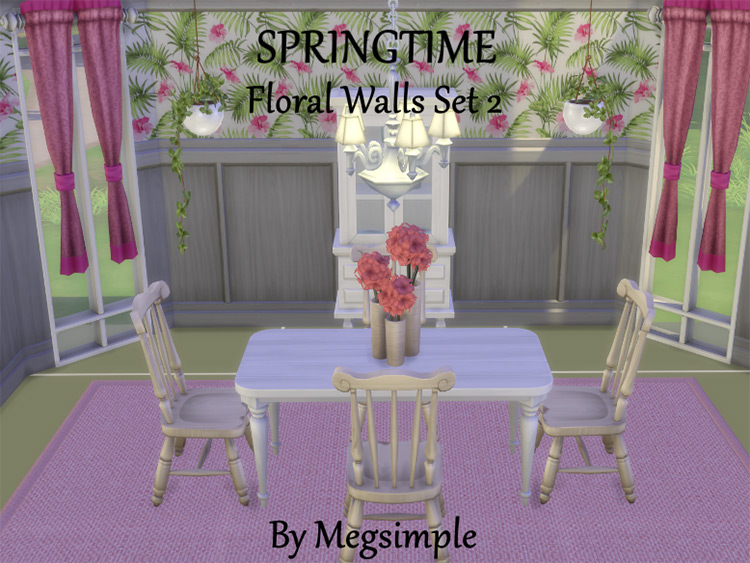Springtime Floral Wallpaper CC
