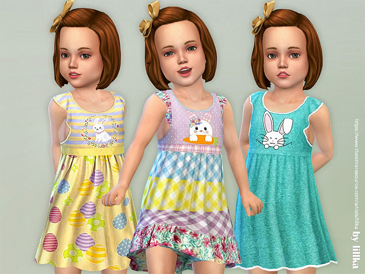 Easter Dress for Toddlers - TS4 CC