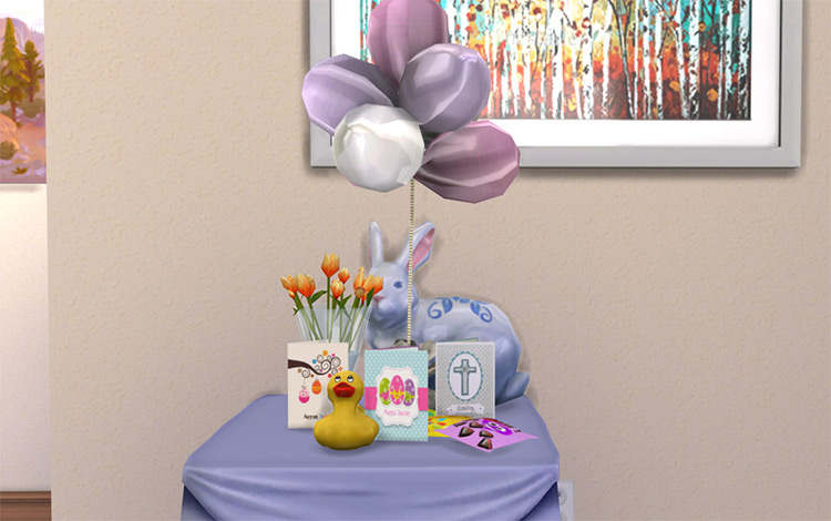 Easter Greeting Cards in Simlish - TS4 CC