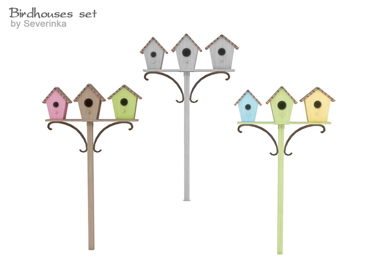 Birdhouses and Birdfeeder CC - TS4