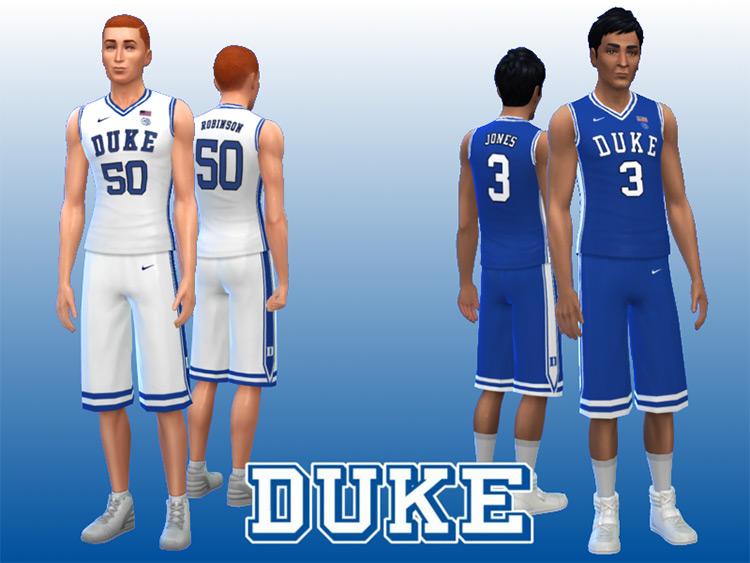 Duke Blue Devils CC for The Sims 4
