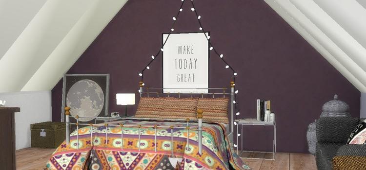 TS4 Attic Bedroom Preview