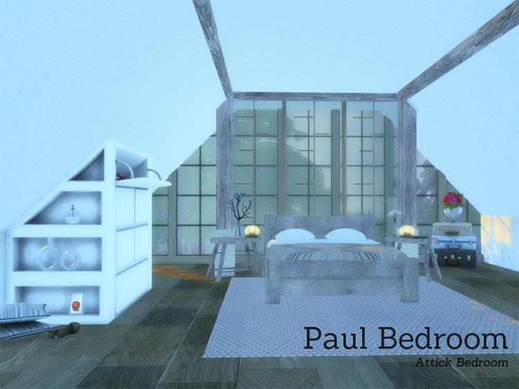 Paul Bedroom CC - The Sims 4