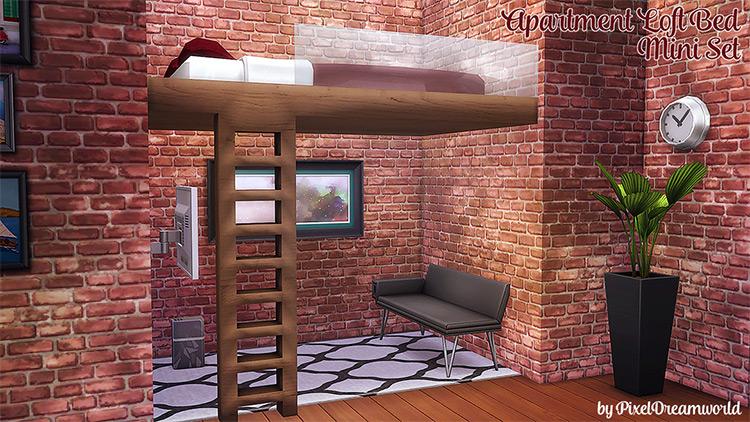 Loft Bed Mini Set CC - The Sims 4