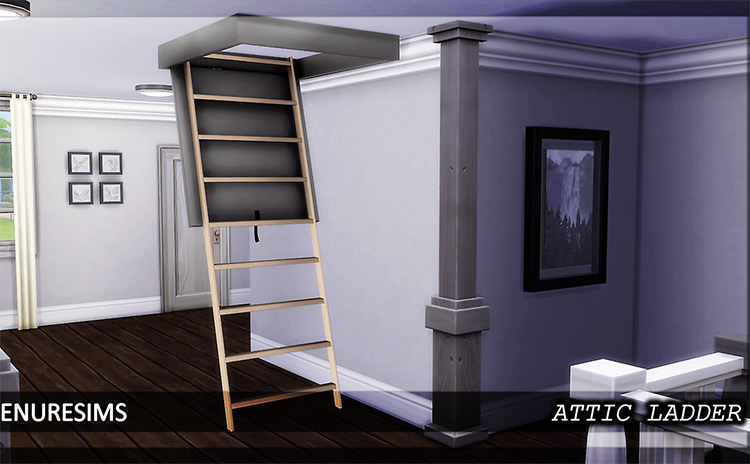 Attic Ladder CC for The Sims 4