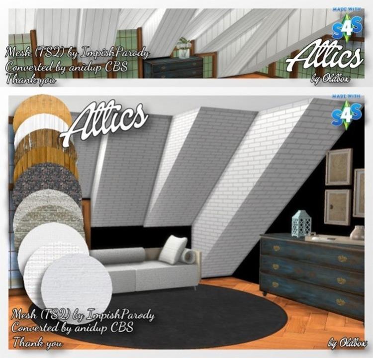 Ceiling Attic Design CC - The Sims 4