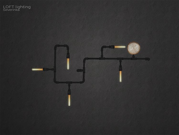 Wall Lamp Pipeline CC - TS4