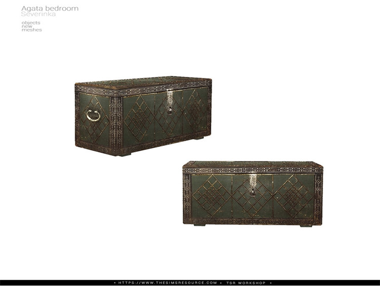 Old Chest CC for The Sims 4