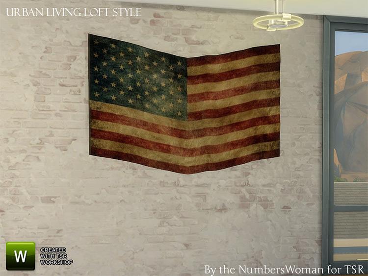 Loft Living Old Flag CC - TS4