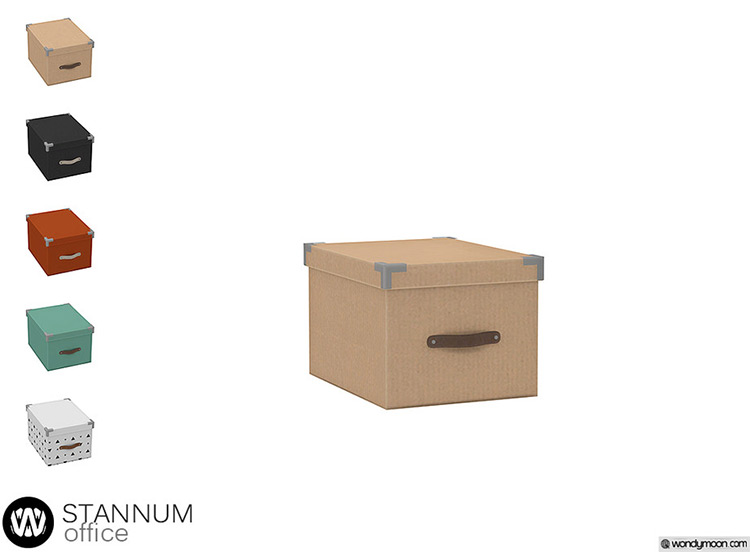 Stannum Storage Box CC for The Sims 4