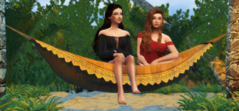 Sims 4 Hammock Girls - Poses Pack Preview