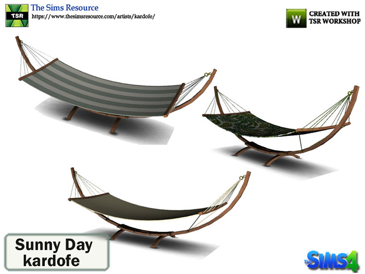 Sunny Day Hammock CC - The Sims 4