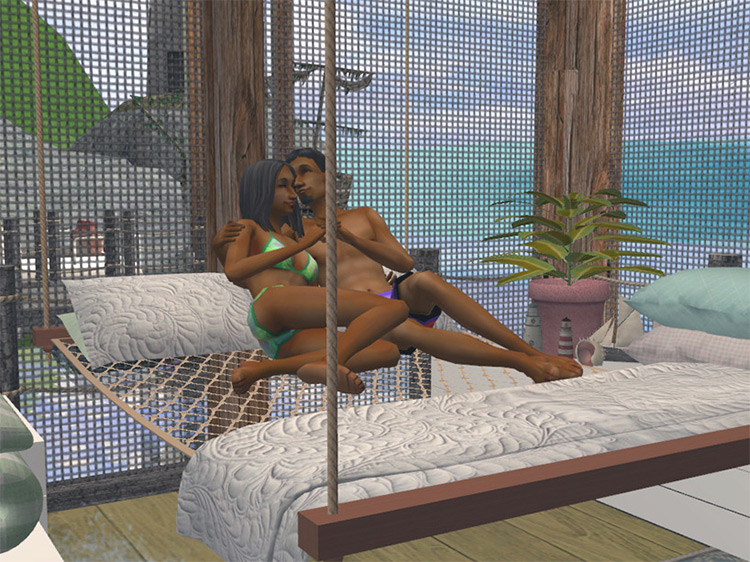 Suspended Hammock CC - The Sims 4