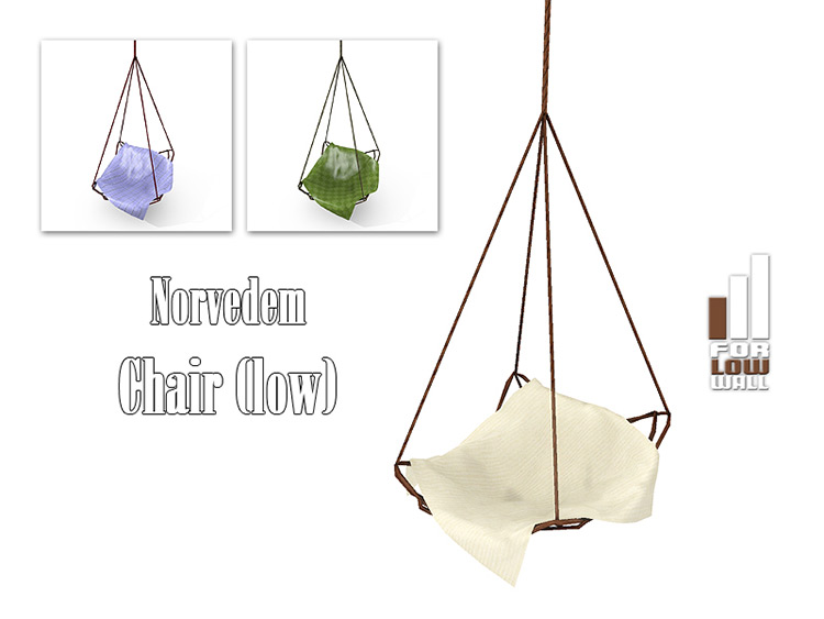 Norvedem Chair/Hammock CC - The Sims 4