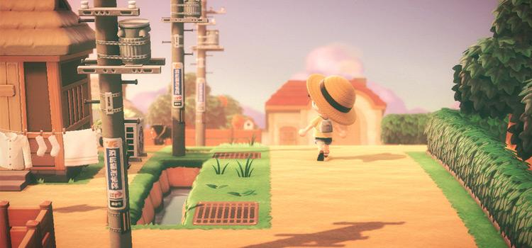 Rural neighborhood stroll in Animal Crossing: New Horizons