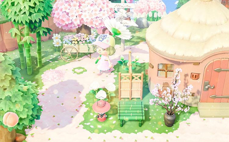 Pink Countryside Island Idea - ACNH