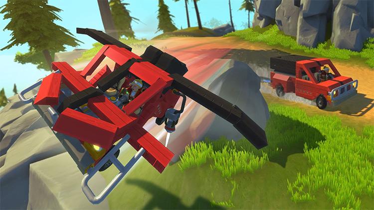 The Dragonfly Transforming Flying Truck! Scrap Mechanic Mod
