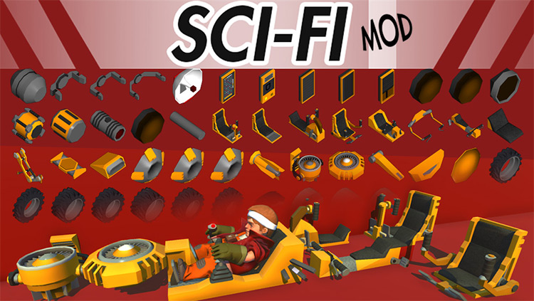 MJM SciFi (and other stuff) Mod for Scrap Mechanic