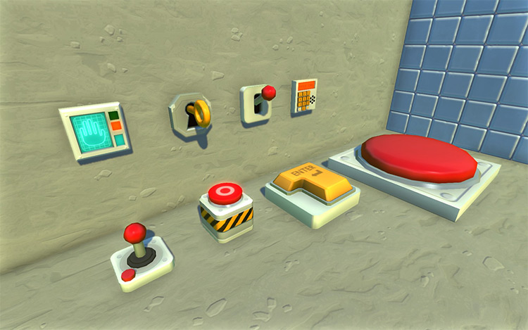 Buttons And Switches Pack Scrap Mechanic Mod