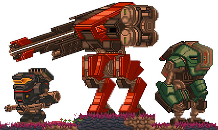 XS Mechs Mod for Starbound