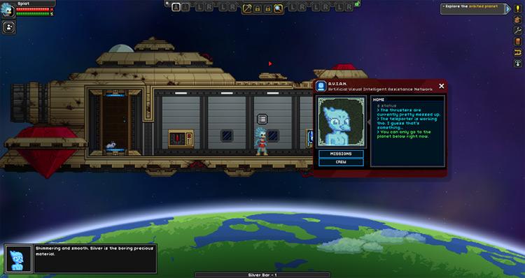 A.V.I.A.N. Starbound Mod screenshot