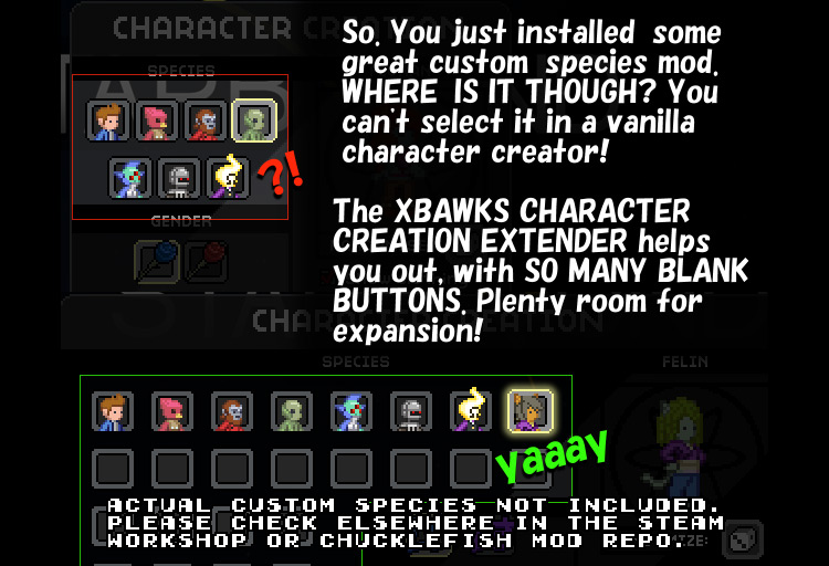 Character Extender Starbound Mod