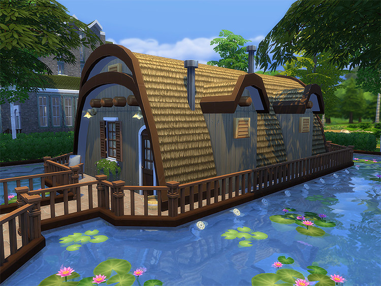 Fisherman House CC Lot - Sims 4 Preview