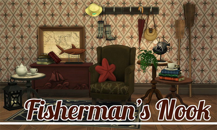 Fisherman's Nook - Sims 4 CC Set