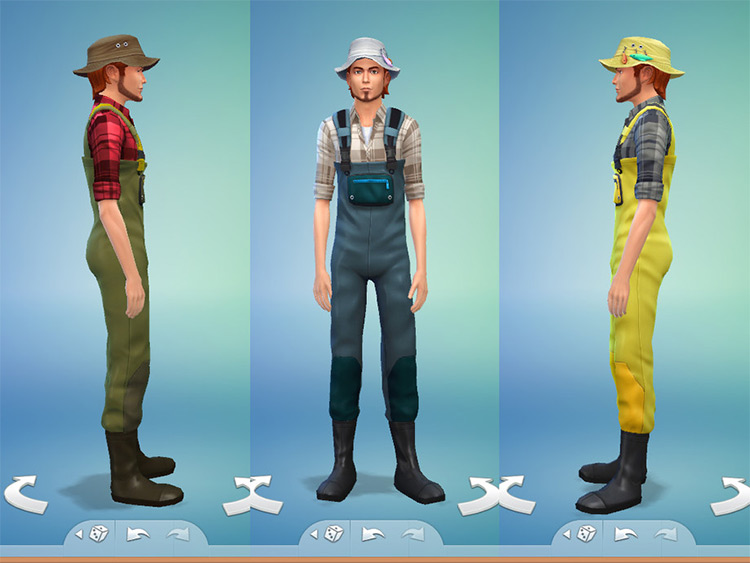 Fisherman Outfit CC for The Sims 4
