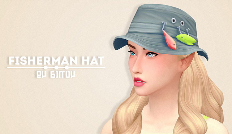 Fisherman Hat CC for TS4