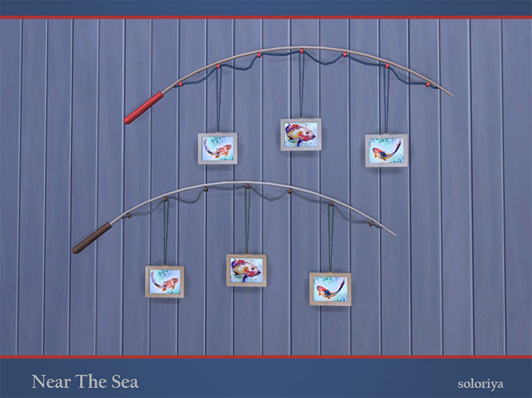 Near the Sea Fishing Decor CC