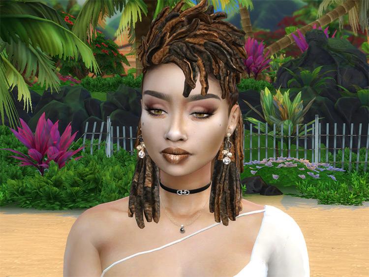 Bohemian Dreads Hairdo CC - Sims 4