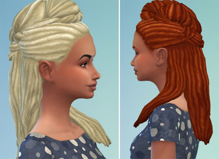 High Twisted Dreads CC for The Sims 4