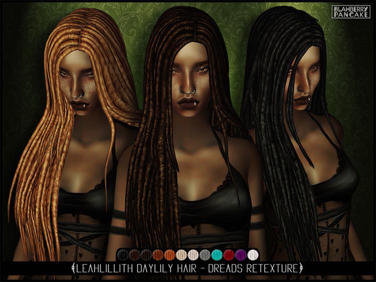 LeadLillith DayLily Hair CC - Sims 4