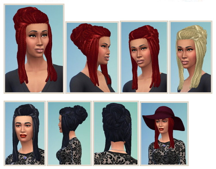 Rasta Bun CC for The Sims 4