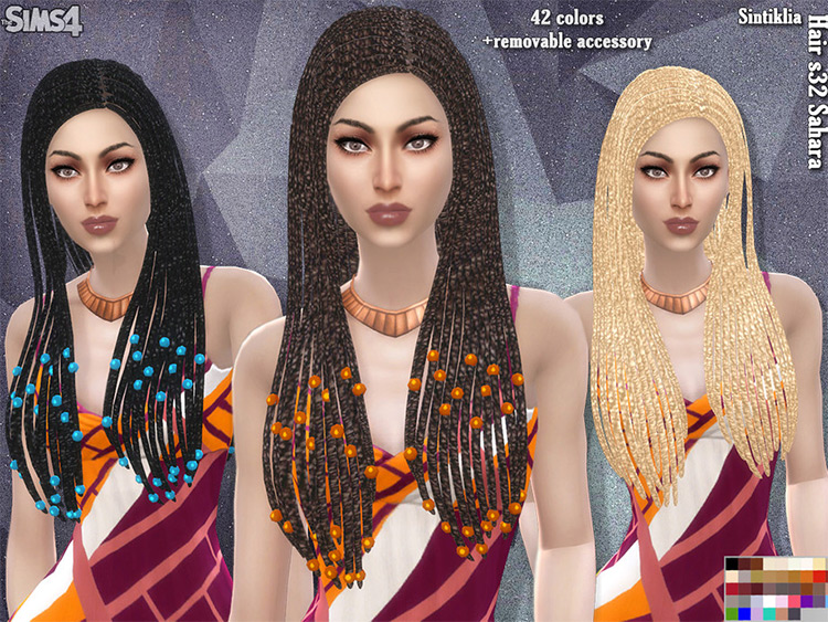 Sahara Dreads CC for The Sims 4
