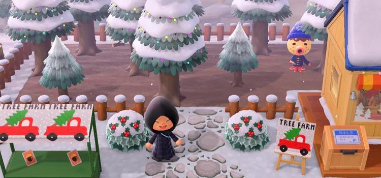 Christmas Tree Farm Idea - ACNH Winter Inspo