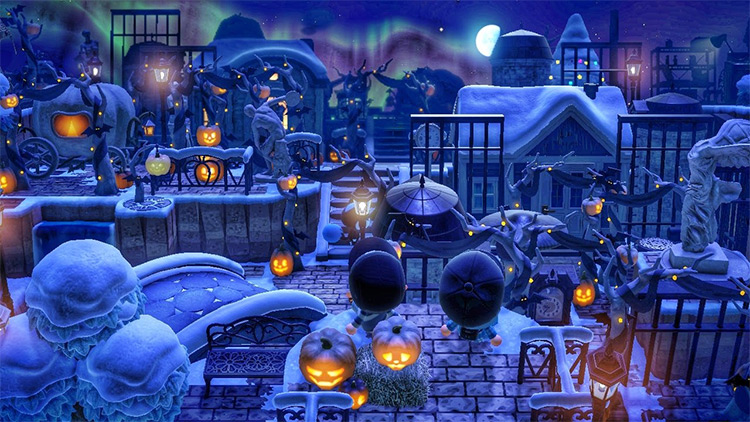 Halloween Decorations in Winter - ACNH