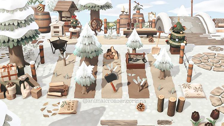 Custom Christmas Tree Farm in ACNH