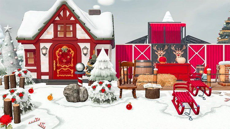 Santas Toy Workshop Design - ACNH Idea