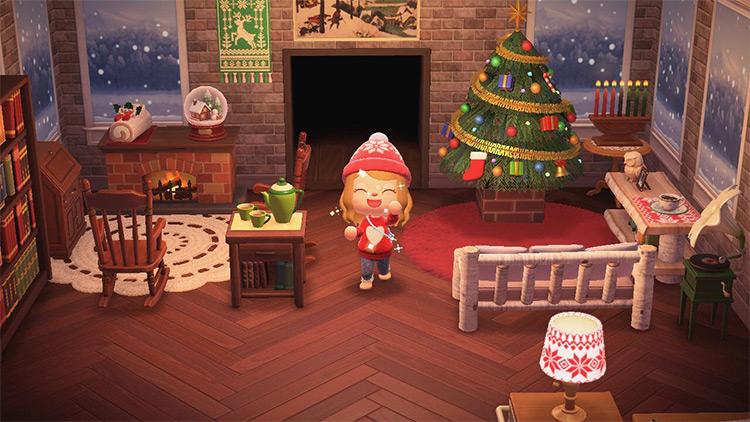 Christmas Tree & Festive Indoor Decor - ACNH Idea